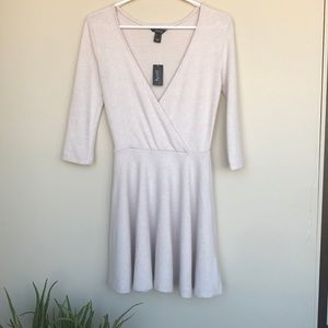 Cream Nude Midi Fall Dress